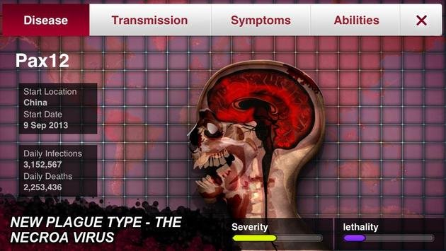 لعبة تفشي الوباء Plague inc evolve